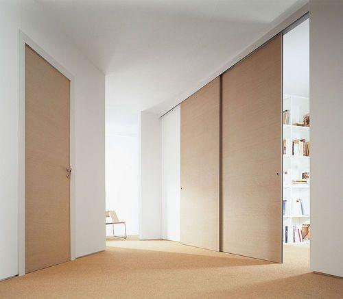 Porte coulissante d 39 int rieur en bois delo archiexpo - Porte coulissante interieure ...