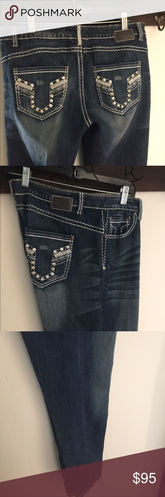 Jeans Cute bling jeans 👖34/33 Bought from Buckle store' petrol Jeans Straight Leg