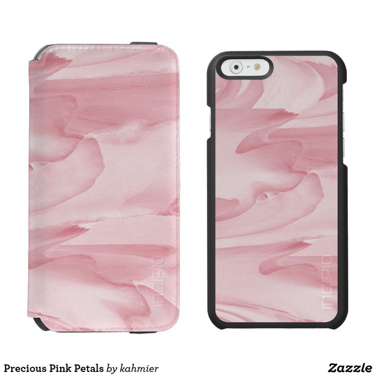 This is really pretty Precious Pink Petals iPhone 6/6s Wallet Case #leatherwooddesign   20% off