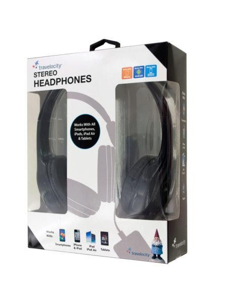 Travelocity Padded Stereo Headphones (Available in a pack of 6)