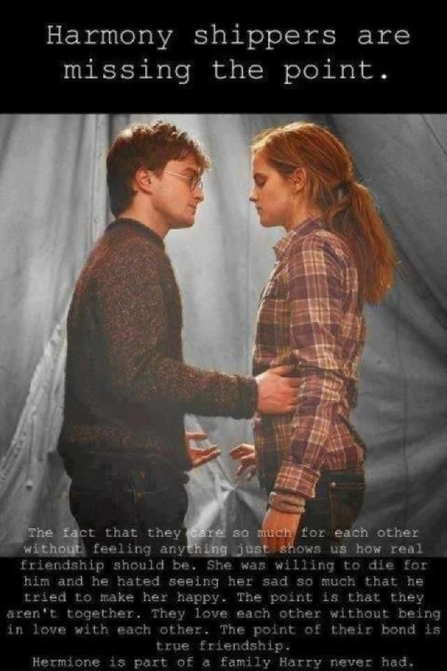 Harry and Hermione.   THANK YOU