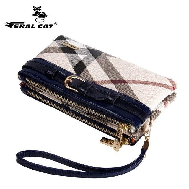 Women Wristlet Bag Plaid Shoulder Bags 2017 Fashion Designer Combined Crossbody Handbags Free Shipping 9008