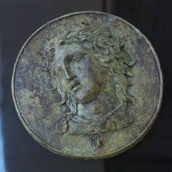Greek God Pan Metal Relief Sculpture Ancient Mirror by GreekMythos