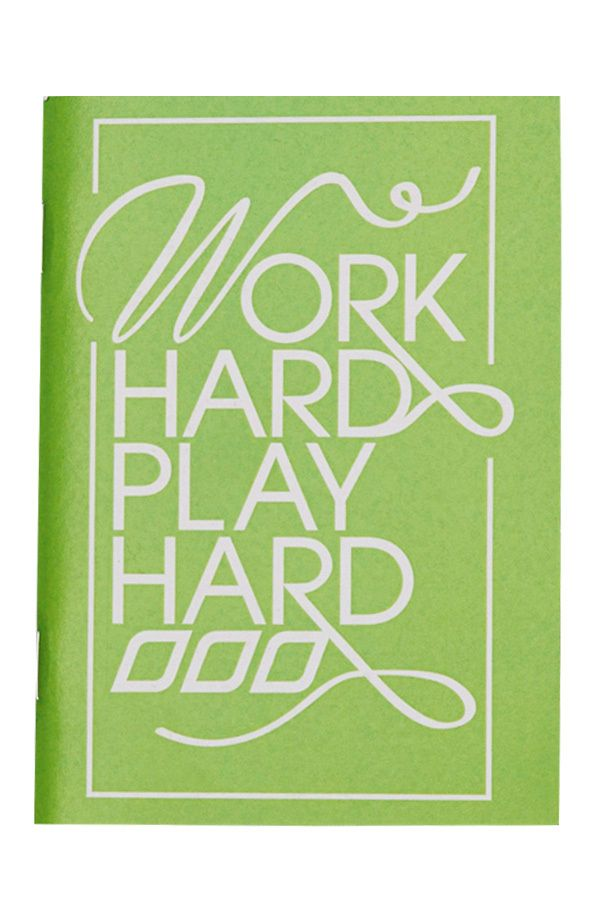 Work Hard Play Hard Notebook *To take to school to keep me feeling motivated #lornajane #ljfitlist