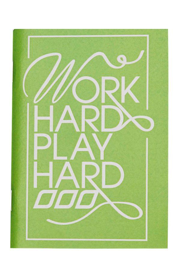 Work Hard Play Hard Notebook   Stocking Fillers  #LJWISHLIST