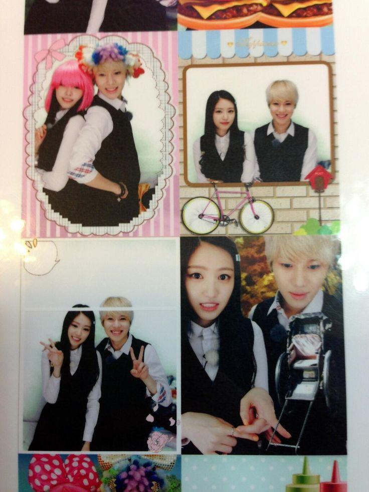 Taemin and Naeun - photo booth at Myeongdong