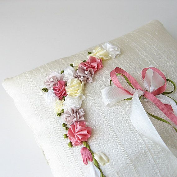 Beautiful silk ribbon embroidery.