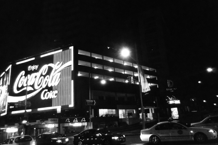 Kings Cross, Sydney, Australia: A quick shot of the famous landmark of Kings Cross, the Coca-Cola sign is a symbol of Sydney night light.