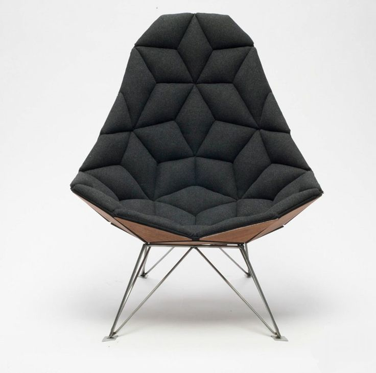 JSN design assembles diamond-shaped tiles into chair ---> Repinned by www.gers.nl