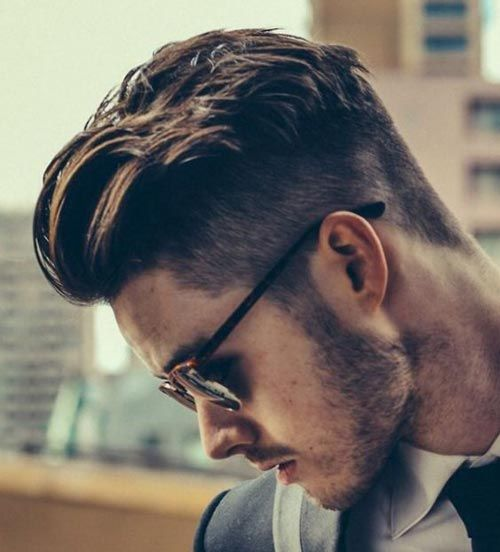 Heavy Textured Messy Pompadour Hairstyle