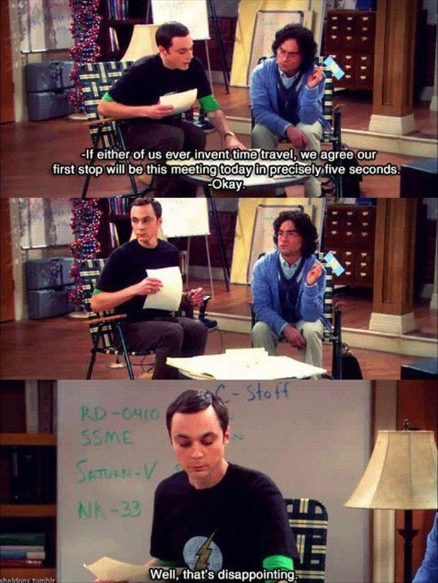 Big Bang Theory Roommate Agreement Time Travel