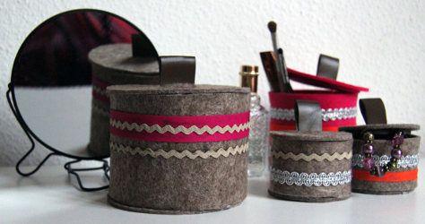 8 best do it yourself filzbox mit deckel images on pinterest tutorials craft and oder. Black Bedroom Furniture Sets. Home Design Ideas