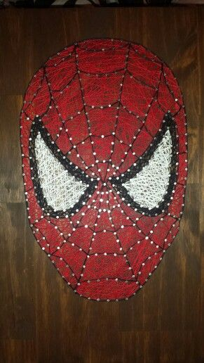 Spiderman string art!! Came out so good!! If interested in custom string art send me a message! silvagirl17@gmail.com