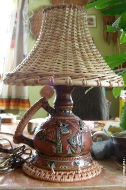 Освещение ручной работы. Ярмарка Мастеров - ручная работа лампа настольная. Handmade.: