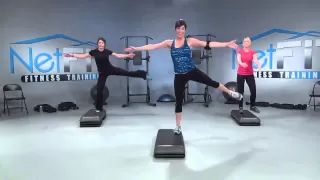 step aerobics full workout - YouTube