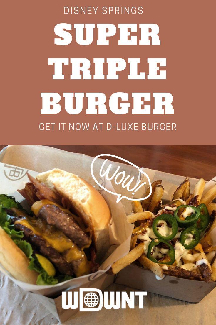 D Luxe Burger At Disney Springs Is Back At Their Seasonal Menu This