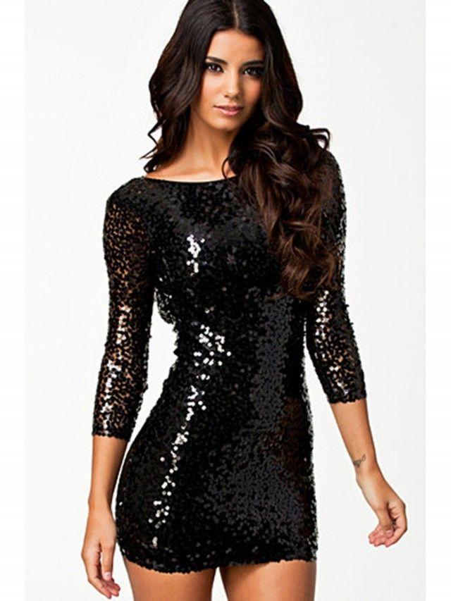 vestidos negros de lentejuelas - Buscar con Google