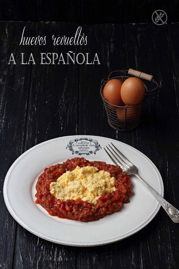 Huevos revueltos a la española {by Paula, Con las Zarpas en la Masa}