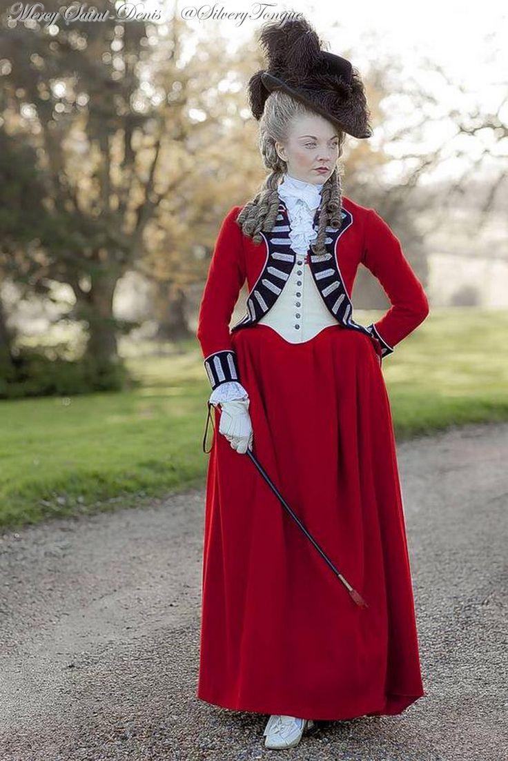 Natalie Dormer as Lady Seymour Worsley in The Scandalous Lady W (2015).