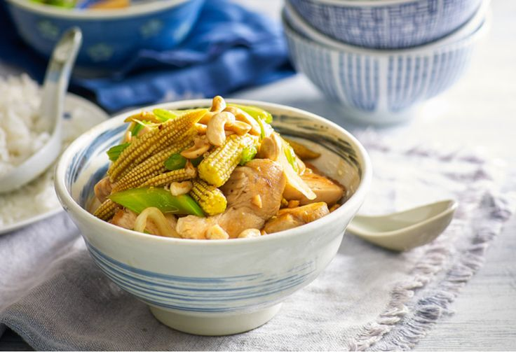 A chicken stir-fry that is quick to make and packed with sweet nuttiness.
