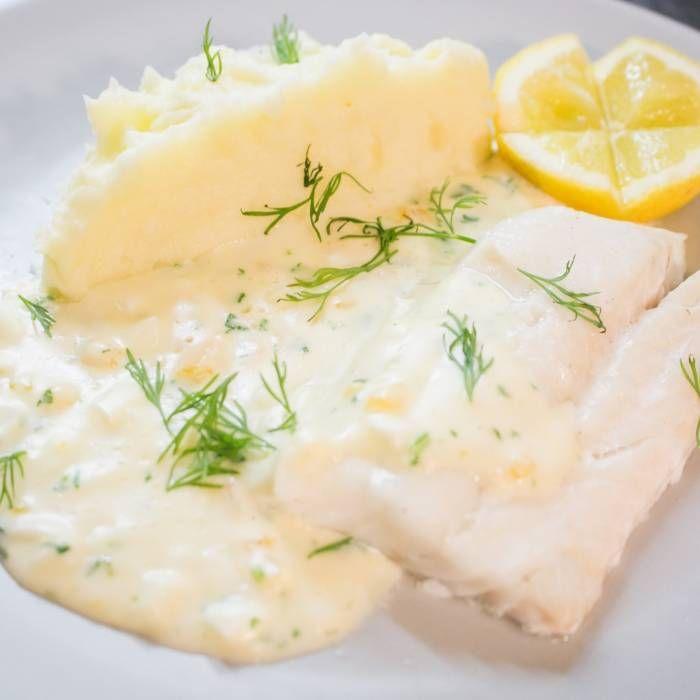 Kokt torsk med äggsås