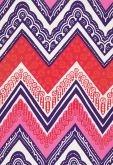 Fabric | Tangier Frame Print in Cerise | Schumacher
