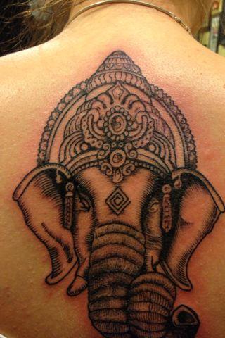 ganesh tattoo, love! But a bit smaller i think