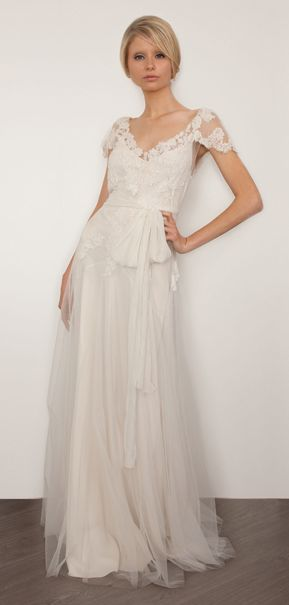 SJ201 Brigitte Silk White Antique | SARAH JANKS 2013