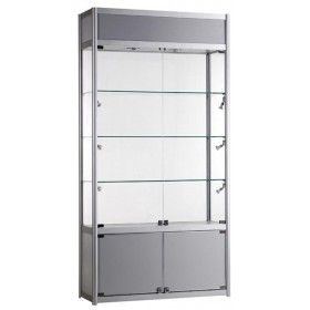 Awesome 1000mm Glass And Storage Aluminium Display Cabinet Branded GB TC 1000 21