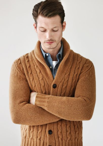Cardigan and shirt by Kitsuné #men #style