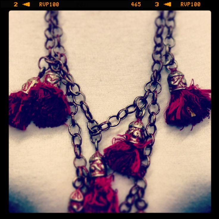 Handmade chain & Antique tassells