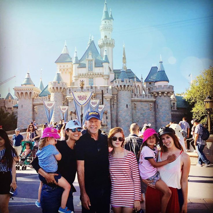 Bruce Willis and family...We Disney'd today...hard. ✨💫
