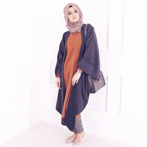 Big and long cardigan style fashion #inayah