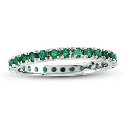 Swag Eternity Emerald Ring