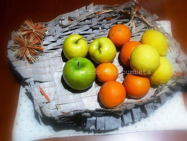 EcoCraftTour 1/2014: Portafrutta di cartone... ricicliAmo!