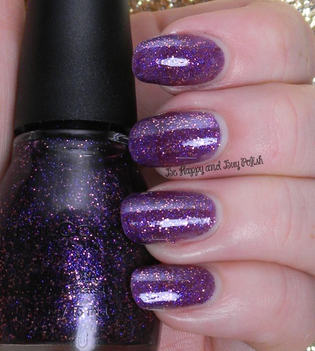 Sinful Colors Lively in Lilac | Be Happy And Buy Polish http://behappyandbuypolish.com/2014/11/10/sinful-colors-glitter-nail-polishes/