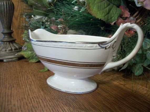 Gravy Boat by Craftsman Dinnerware Vintage by TKSPRINGTHINGS