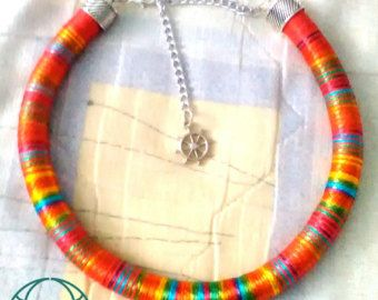 Collar corto azul gargantilla collar corto tribal por DOCECUENTAS