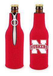 Nebraska Cornhuskers Black Bottle Koozie