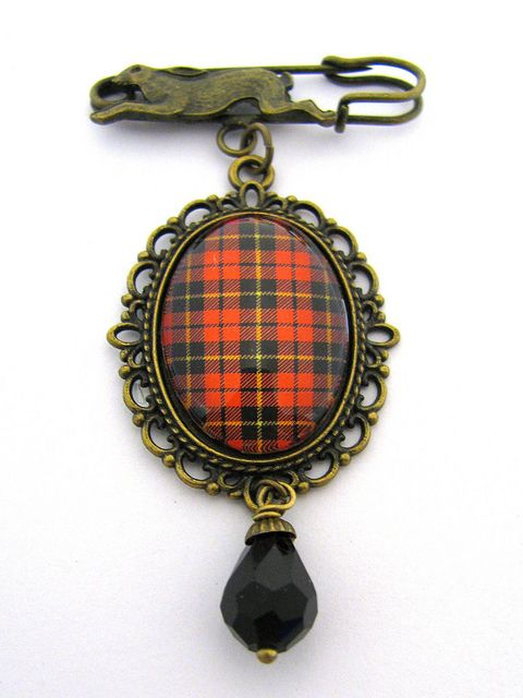 Ancient Romance Series - Scottish Tartans Collection - Wallace Brooch or Pendant | Flickr - Photo Sharing!