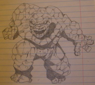 Thing from Fantastic Four, pencil art