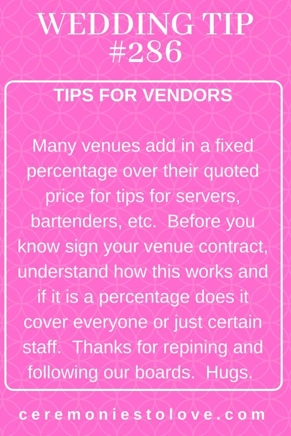 You will spend a large part of your wedding budget paying vendors