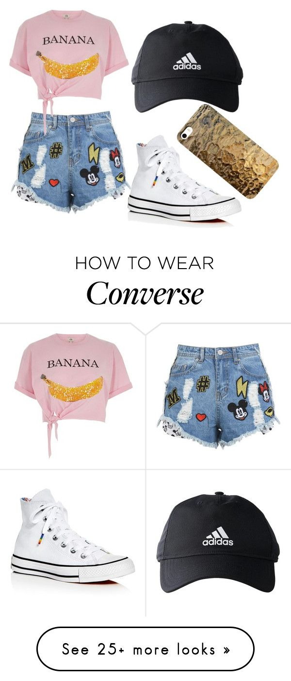 """disney land"" by life-is-dead on Polyvore featuring Disney Stars Studios, River Island, Converse and adidas"