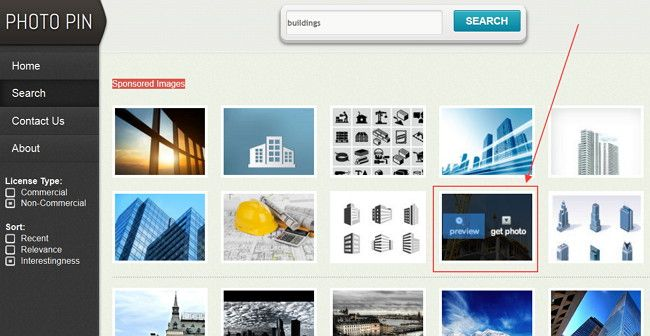 Photo Pin es un excelente buscador de imágenes con licencia Creative Commons en Flicker, que además ofrece enlace directo de descarga y el código para ofrecer el crédito correspondiente de la imagen.