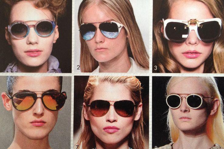 Zonnebrillen met dubbele neusbrug - accessoires lente/zomer 2014 (Elle belgië)
