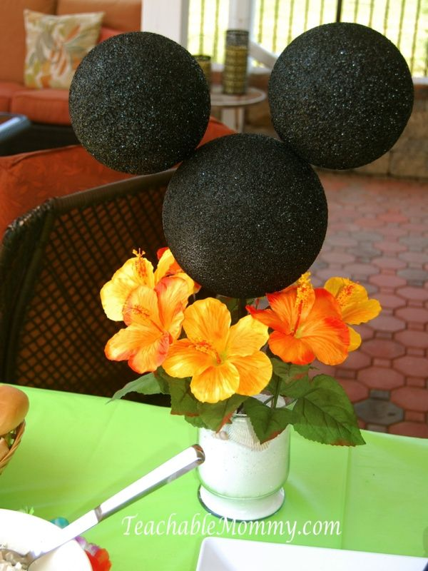Best ideas about mickey mouse centerpiece on pinterest