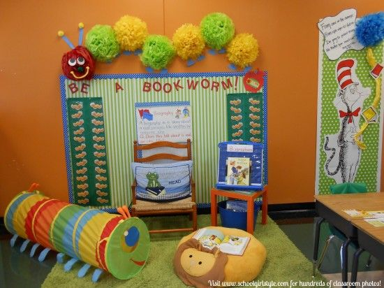 A Very Hungry Caterpillar? I think so!  Visit Schoolgirl Style for hundreds of classroom photos!