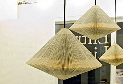 26 best paper lighting research images on pinterest good ideas handmade paper light shade old book pendant shade original light shade graphic greentooth Images