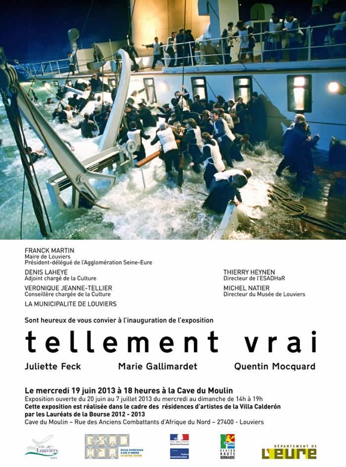 """Inauguration de l'exposition """"Tellement vrai"""" à la Villa Calderón de #Louviers, ce soir à 18h"""