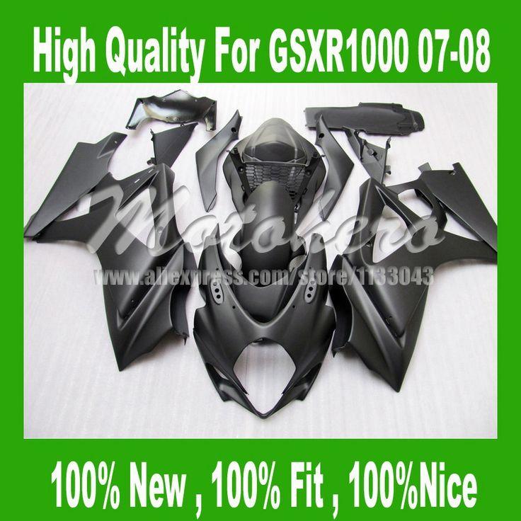 Матовый черный Обтекатель K7 SUZUKI GSXR 1000 K7 07 08 GSX-R1000 GSX R1000 2007 2008 GSXR1000 07 08 обтекателя комплекты # FF449C